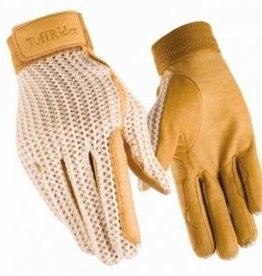 JPC Equestrian Tuff Rider Crochet Back Glove Tan 5