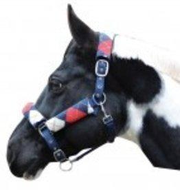 JPC Equestrian Halter With Detachable Fleece Navy Pony