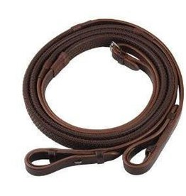 HDR HDR Pro Rubber Reins Oakbark Horse Size
