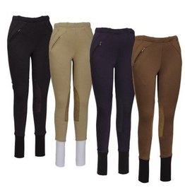 Women's TuffRider Fleece Pull-On Breeches Brown 32