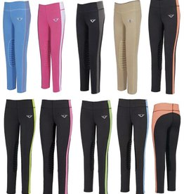 Ladies Ventilated Schooling Tights Gray/Neon Peach XL