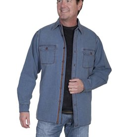 Scully Sportswear, INC Men's Scully Blue Canvas Shirt