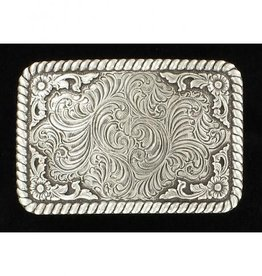 Nocona Narrow Rectangle Scroll Belt Buckle