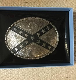 M & F Western Products Oval/Ribbon Star Buckle