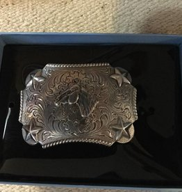 M & F Western Products Nocona Youth Horsehead Buckle Silver Kids