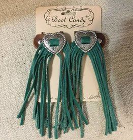 Central Texas Leather Co. Boot Candy Toppers Turquoise Heart
