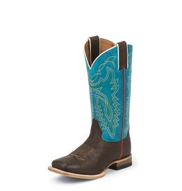 Justin Boots Youth Justin Chocolate Grizzly Boots