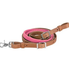 Weaver Leather Company Barrel Rein With Rubber Grip Pink
