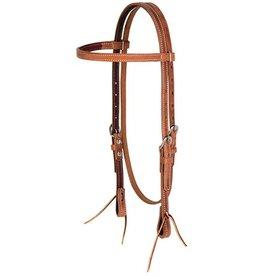 Weaver Browband Headstall Light Oil Horse