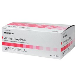 RJ Matthews Alcohol Prep Pads box 200 count