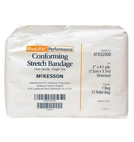 "Stretch Gauze Bandage 12 rolls 3"" x 4.1 yds"