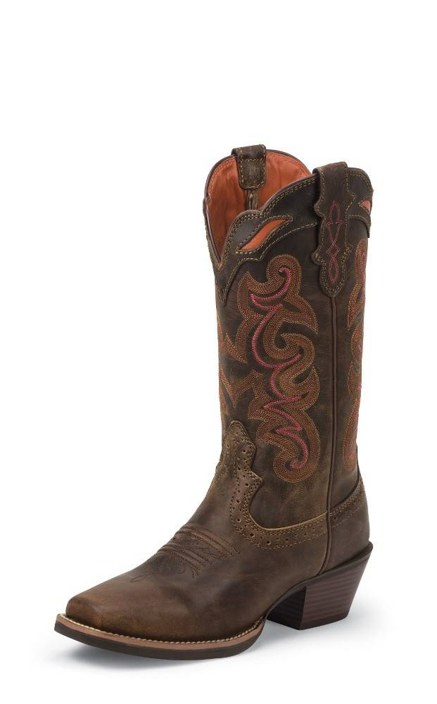 Justin Western Women's Justin - Light Coffee Waxy Boots - Reg $179.95 now 25% OFF!