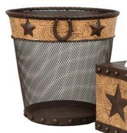 JT International Wastebasket Star/Horseshoe Metal Small