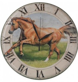 "Tough1 Wall Clock Horse 12"" Diam"