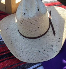 M & F Western Products Double S Straw Hat - Assorted