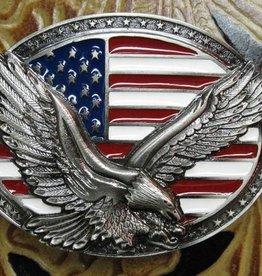 Rockmount Flag and Eagle Belt Buckle