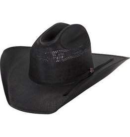 Milano Justin Cutter Black Straw Hat