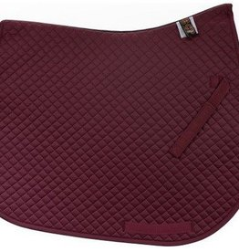 Equine Comfort Products ECP Cotton All Purpose Saddle Pad Burgandy