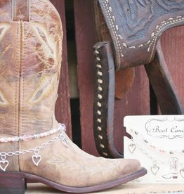 Central Texas Leather Co. Boot Candy Hearts Pink Adult