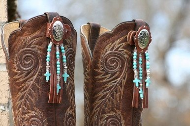 Central Texas Leather Co. Boot Candy Toppers Turquoise Adult