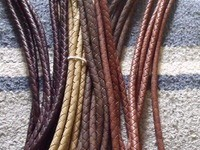 Alamo Saddlery Alamo Leather Braided Split Reins