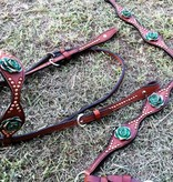 Alamo Saddlery Toast Leather w/Copper Spots Set!