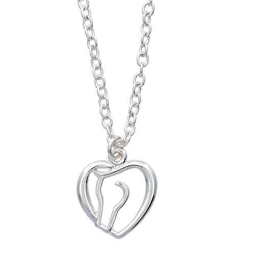 AWST International Necklace - Heart & Horse Head