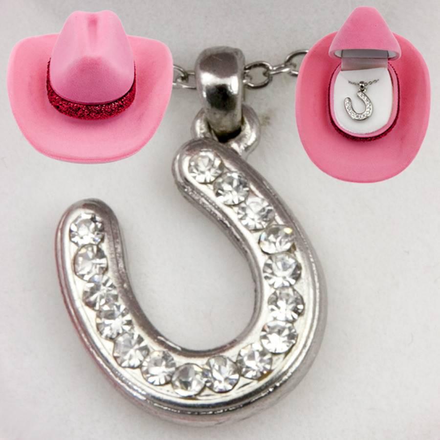 AWST International Necklace - Crystal Horseshoe