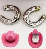 AWST International Earrings - Horseshoe w/Crystals