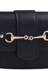 AWST International Handbag - Black Snaffle Bit