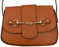 AWST International Handbag - Brown Snaffle Bit