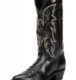 Justin Western Men's Justin Black Classic Western Cowhide Boots