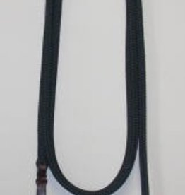 "Double Diamond Halter Co. 1/2"" x 15' Tree Line Brannaman Lead with Popper, Black"