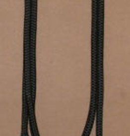 "Double Diamond Halter Co. 9/16"" Braided Poly/Dacron Lead w/Popper Black 15'"