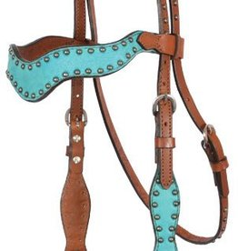 Alamo Wave Style Headstall - Turquoise