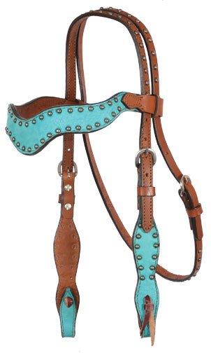 Alamo Saddlery Alamo Wave Style Headstall - Turquoise