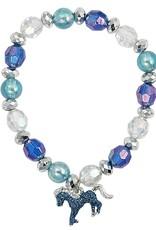 AWST International Bracelet - Turquoise Glitter Horse