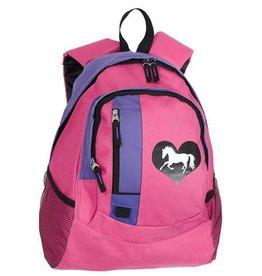 AWST International Lila Heart Back Pack Pink Purple Kids