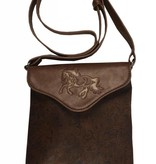 AWST International Handbag - Brown Tooled Cross Body w/ Lila Horse