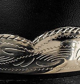 Western Express Boot Heel Guards - Scalloped Silver Engraved