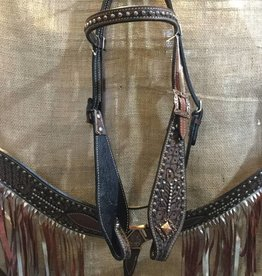 Circle L Spotted Fringe Tack Set - Horse Size
