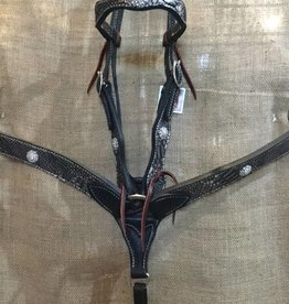 Circle L Circle L Headstall & B/C Set Black Tan Horse