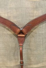 Circle L Circle L Breast Collar, M.Oil, Shell Embossed, U.S.A. Made - Horse Size