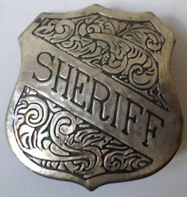 Western Fashion Accessories Badge - Sheriff Badge