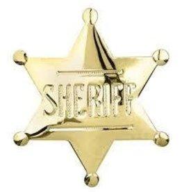 Western Express Badge - Sheriff Pin Gold