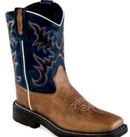 Old West Youth Old West Leather Square Toe Boots - (Reg Price $64.95 now 30% OFF!)