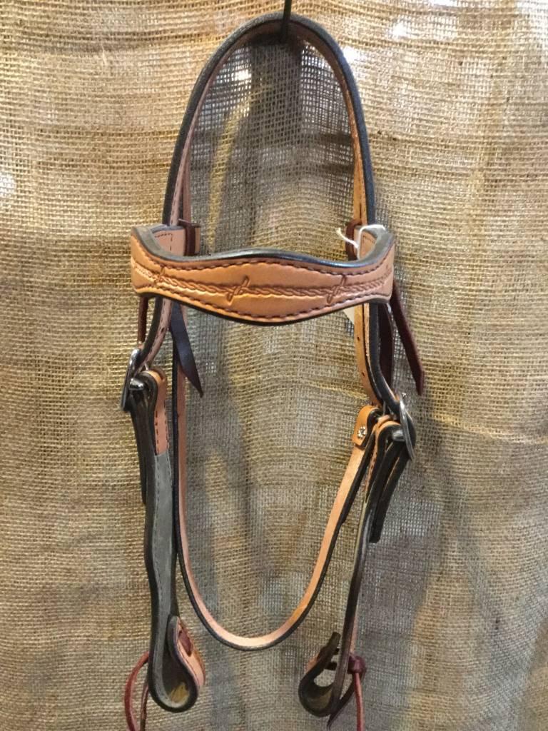 Circle L Western Headstall: Scalloped Asst Horse