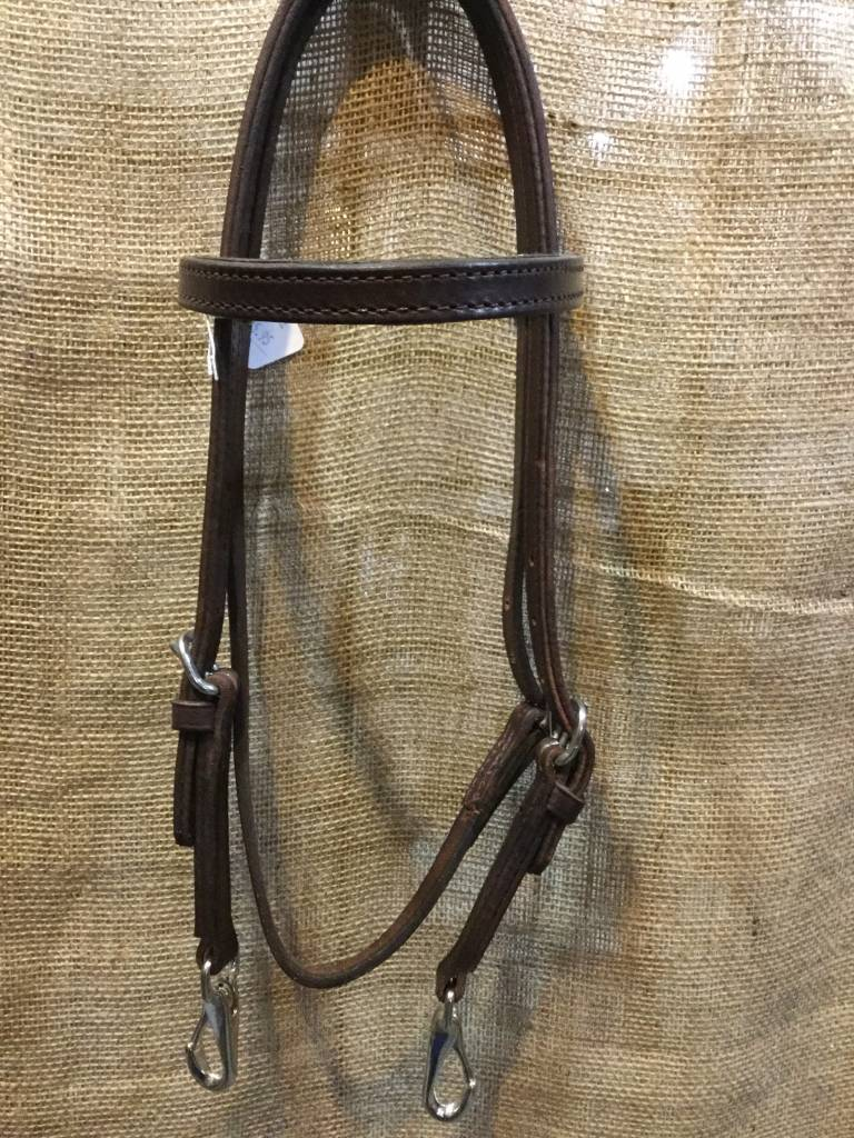 Circle L Circle L Headstall, Quick Change, D.Oil, U.S.A. Made - Horse Size