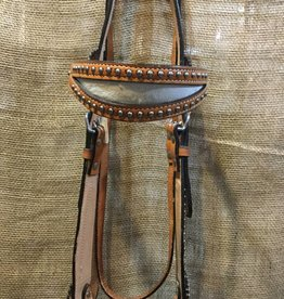 Circle L Circle L Headstall, Cowhide Browband, L.Oil, U.S.A. Made - Horse - $63.95 @ 30% OFF!