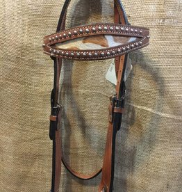 Circle L Circle L Headstall, Cow Hair Browband & Cheeks, M.Oil - Horse - $69.95 @ 40% OFF!